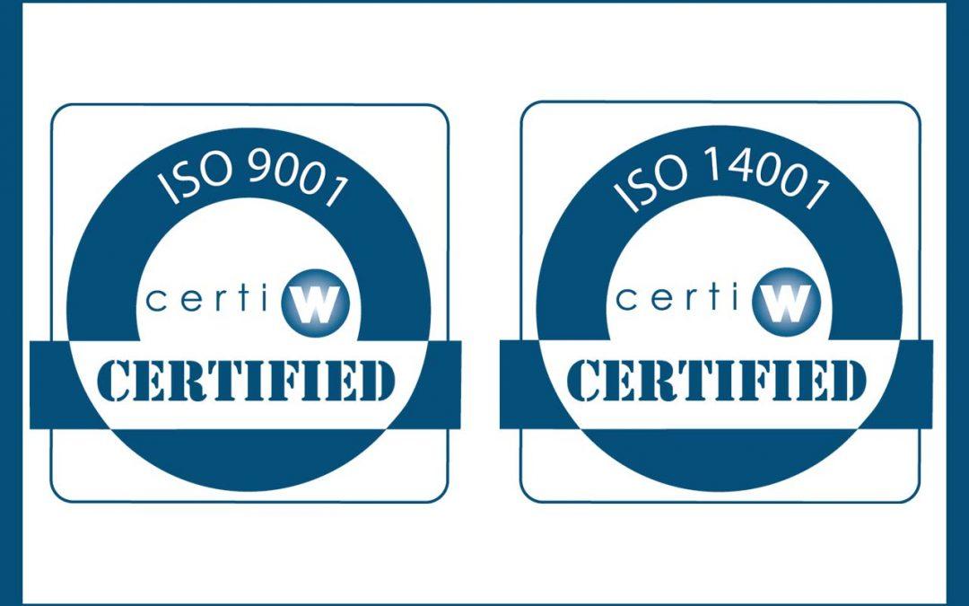 Certificazione Verde Ambiente ISO 9001:2015 e ISO 14001:2015
